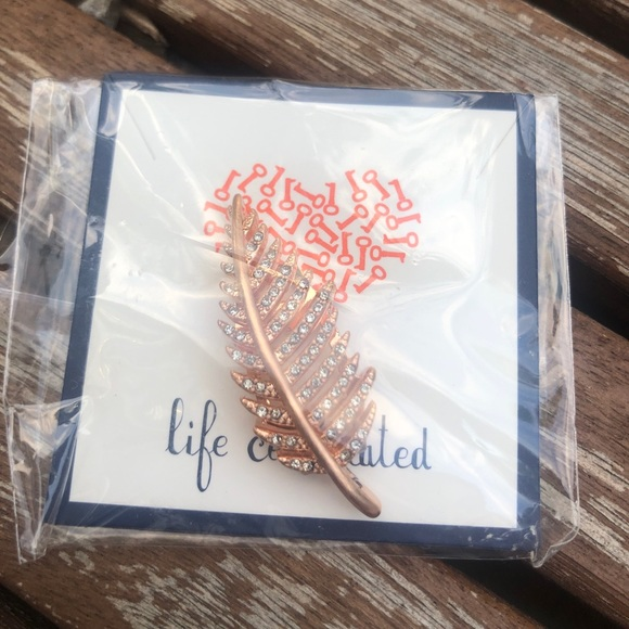 KEEP Collective Jewelry - Keep Collective Large Pave Leaf charm rose gold